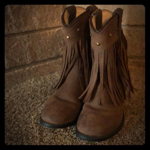 Old West Little Girls Fringe Boots